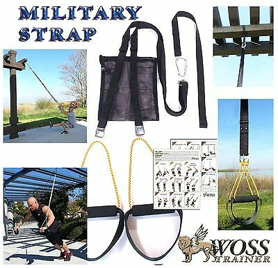 WOSS Military Black Trainer, Made In US Suspension System, Home Gym Training