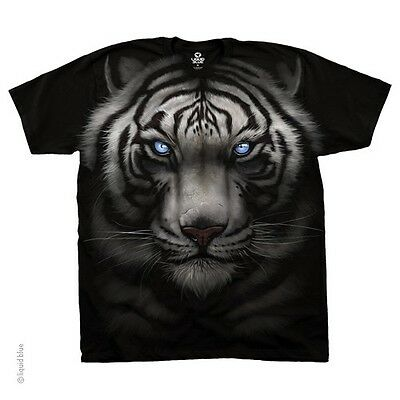 New MAJESTIC WHITE TIGER BIG FACE TIGER T SHIRT