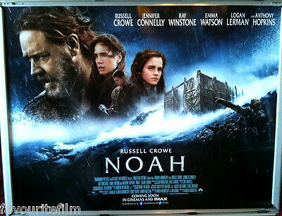 Cinema Poster: NOAH 2014 (Quad) Russell Crowe Anthony Hopkins Douglas Booth