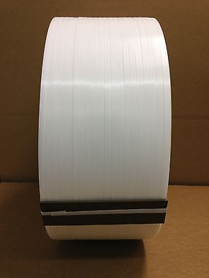 "NEW Machine Grade Polypropylene Strapping M3830-11W 3/8""X.022""X10500ft FREE SHIP"