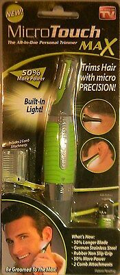 NEW MICRO TOUCH MAX PERSONAL HAIR TRIMMER ALL IN ONE 50% MORE POWER