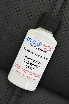 Ibis Bianco Audi LY9C Vernice per Ritocchi Kit 30ML RS3 RS4 RS5 Ttrs A3 A4 A5 A6