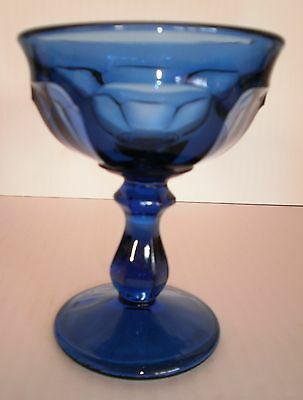 Imperial Glass Old Williamsburg Deep Blue Stemmed Champagne Sherbet 8 available