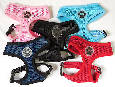 Hot New Soft Air Mesh Dog Puppy Harness - Pet Safety Control Vest Doggy Cat Cool