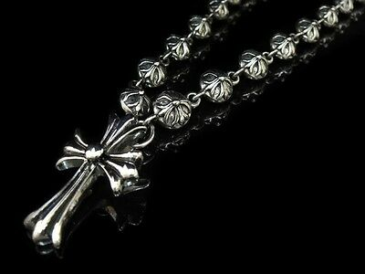 Christian Jesus Lord Silver CROSS Goth Crucifix Necklace for Biker Harley TN85