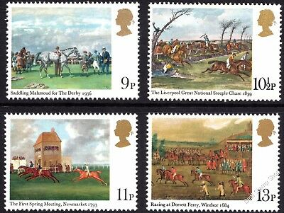 GB 1979 Horse Racing Horseracing Paintings SG1087-90 Complete Set Unmounted Mint