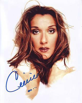 CELINE DION Signed Photo w/ Hologram COA