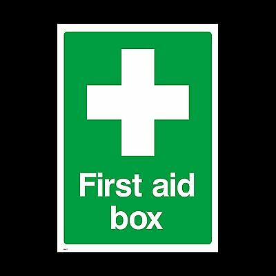 First Aid Box Sign, Sticker - All Sizes & Materials - Safety, Emergency (MISC7)