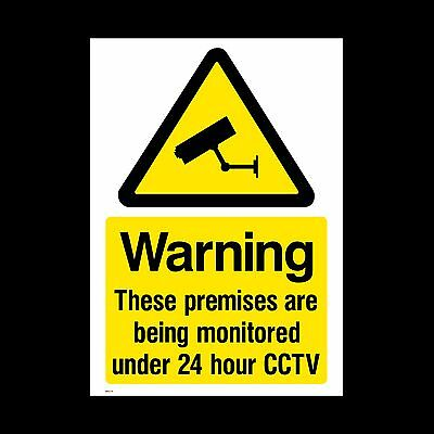 CCTV Sign, Sticker - All Sizes & Materials, Security, Camera, Warning (MISC10)