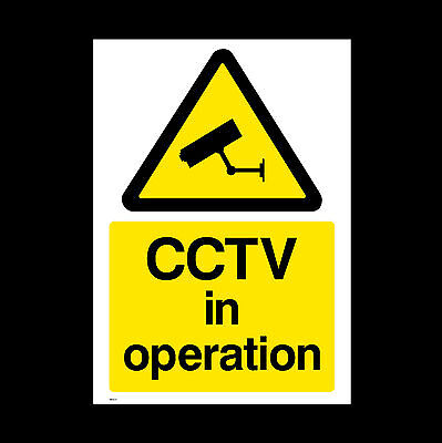 CCTV Sign, Sticker - All Sizes & Materials - Security, Camera, Warning  (MISC11)
