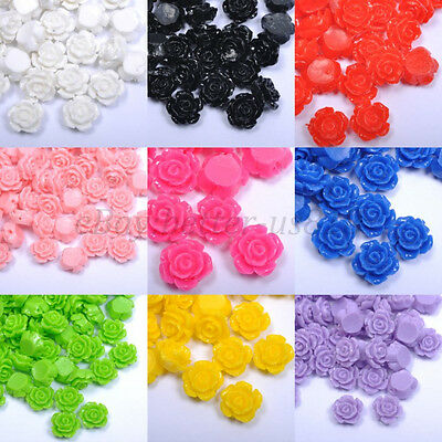 20pcs Gorgeous Rose Flower Resin Loose Spacer Beads, Color - Choose 10MM, 12MM