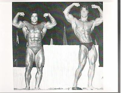 FRANCO COLUMBU /Frank Zane Mr Olympia Contest Bodybuilding Muscle B+W Photo