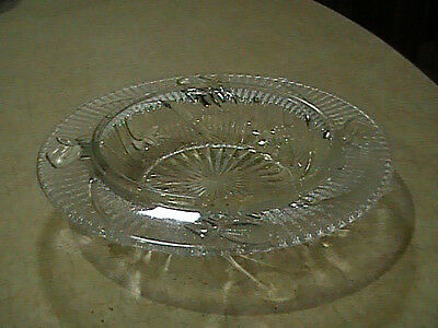 Jeannette Glass Iris & Herringbone Crystal Butter Dish Bottom