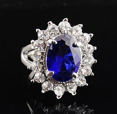 Lady Diana's Ring Verlobungsring Kate William Fingerring Royal Blau
