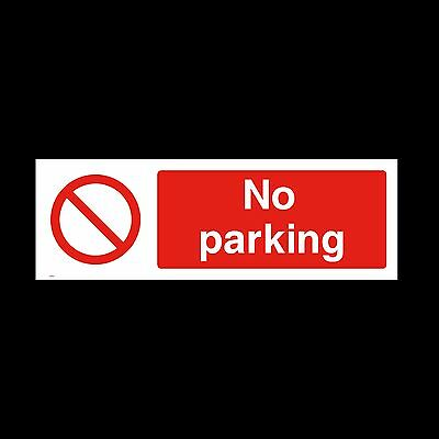 No Parking Sign, Sticker - All Sizes & Materials - Office, House,Private (PAR14)