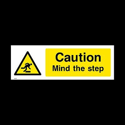 Mind the Step Sign, Sticker - All Sizes & Materials - Warning, Hazard (WG11)