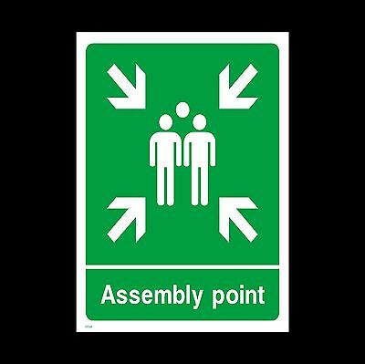 Fire Assembly Point Sign, Sticker - All Sizes & Materials, Muster Point (EE58)