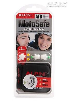 Alpine Motosafe Motorcycle Ear Plugs - FREE NECK TUNNEL