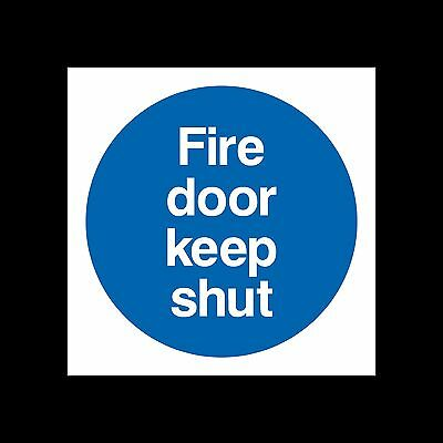 Fire Door Keep Shut Sign, Sticker - All Sizes & Materials - Escape, Closed, Exit