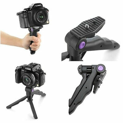 2in1 Table Mini Portable Folding Tripod Stand + Hand Grip for DC DSLR SLR Camera