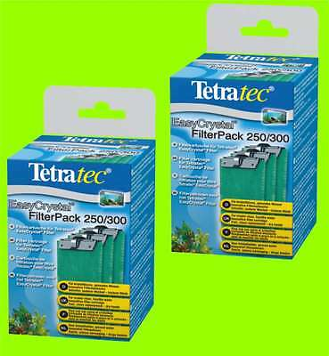 TETRA TEC x 2 EasyCrystal 250/300 FilterPack 6 TETRA Filtre CARTOUCHES PACK