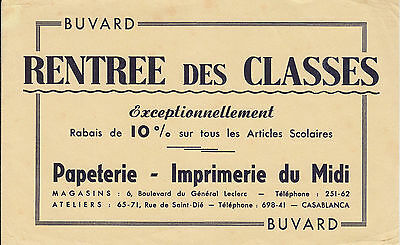 Buvard Vintage  Rentrée des Classes Casablanca No 2