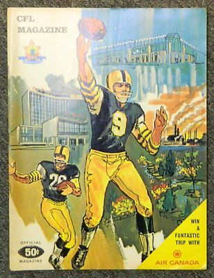 ** Vintage 1968 Canadian Cfl Magazine Souvenir Program **