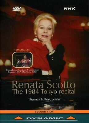 Renata Scotto: The 1984 Tokyo Recital (2011, DVD NUEVO) Scotto/Fulton (REGION 1)