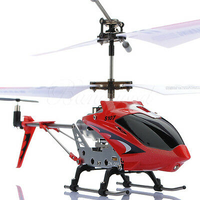 Genuine SYMA S107G 3.5 Channel 3.5CH GYRO Metal Remote Control RC Helicopter Red