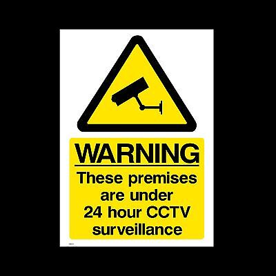 CCTV Sign, Sticker, Metal - A5, A4, A3 - Security, Camera, Warning  (MISC12)
