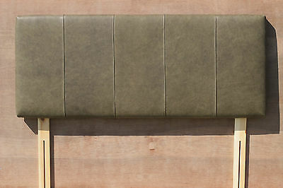 "Kingsize Antique Green  Scottish Real Leather headboard, 30"" tall"
