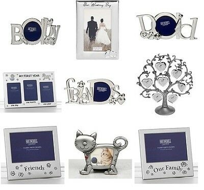 Silver Photo / Picture Frame Mum Dad Son Daughter Wedding Family Friends Sister