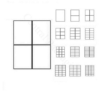 PRINTER LABELS A4 (4 Label Per Sheet)Blank Address Self Adhesive Sticky Posting