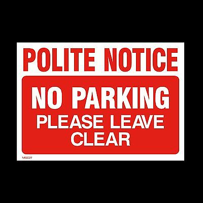 No Parking Keep Clear Private Sign, Sticker, Metal - A5, A4, A3 - (MISC27)