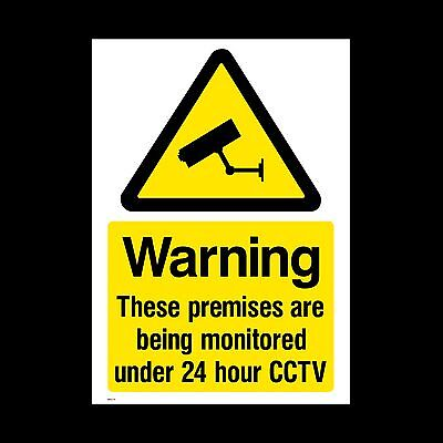 CCTV Window Sticker, Sign - 75mm x 100mm (A7) , Security, Camera, (MISC10)