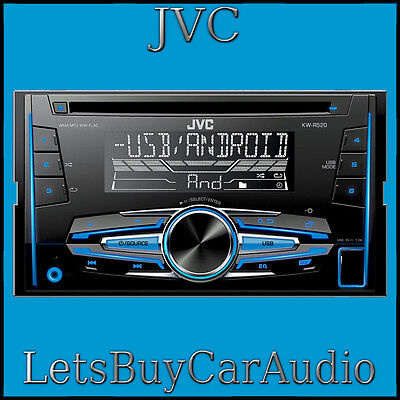 Jvc Kw R520 Cd, Mp3, Usb, Android, Aux, Variable Colour, Double Din Car Stereo