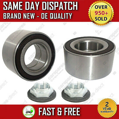 FRONT WHEEL BEARING 2X FORD MONDEO Mk3 TDCi TDDi WITH ABS KIT + NUT