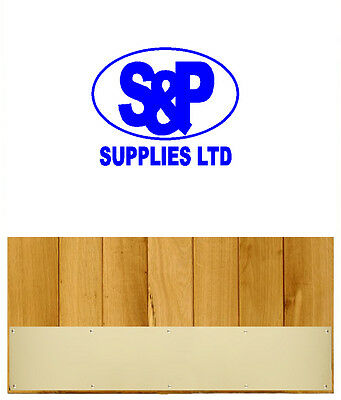 Polished Brass KICKING Plate Door Protection Beautiful UK Quality Manufactured