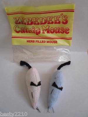 Catnip Filled Zebedee Mouse Cat Toy