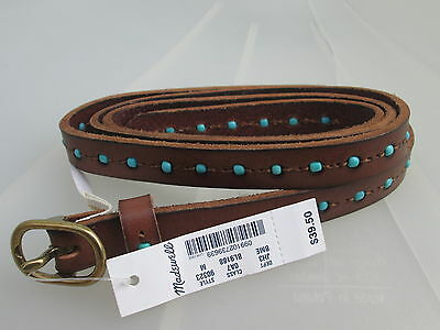 NWT Madewell New $39.50 Women Skinny Leather Belt Size Small