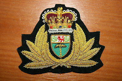 RHODESIA RHODESIAN NAVY OFFICER'S CAP BADGE BULLION WIRE RIVER PATROL