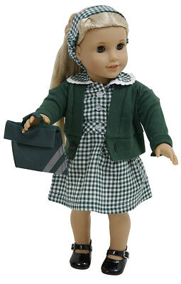 To Fit My London Girl Summer Uniform By Frilly Lily  Dress/Cardy /Bookbag