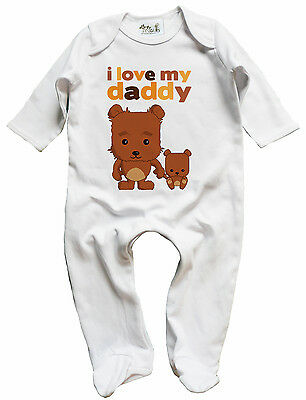 "Dirty Fingers Funny Baby Romper suit Playsuit /""I/'m Daddy/'s Princess/"" Dad Father"