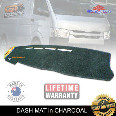 DASH MAT to Suit Hiace 200 Series SWB & LWB 2/2005-2017 KDH201R DM979 CHARCOAL