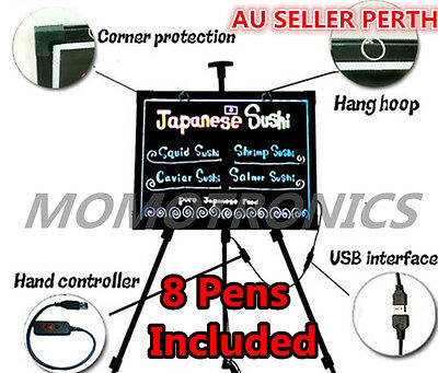 60X80cm Colorful LED Writing Board with Remote and 8 Pens for shops restaurant