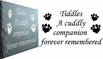 Pet Memorial Plaque Slate Sign - Personalised to your requirements 23cm x 16cm
