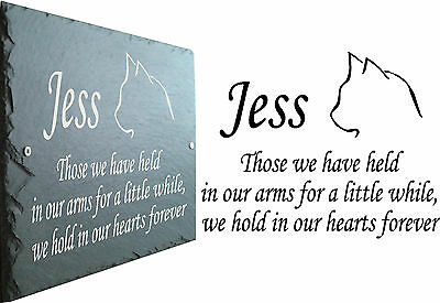 Pet Memorial Slate Sign Plaque - Personalised for your Cat