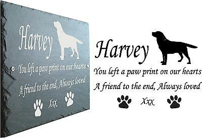 Labrador Pet Memorial Slate Sign Plaque - Personalised to your requirements