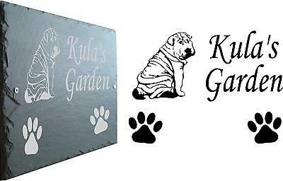 Pet Memorial Slate Plaque, Personalised for your Shar Pei Add Any Message/Verse