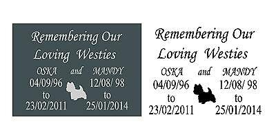 Pet Memorial Slate Plaque Personalised for Pets Add Your Message & Dog Breed